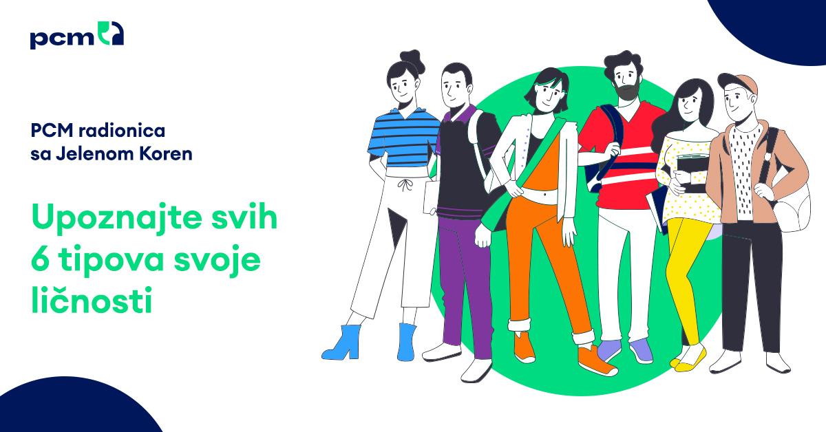 PCM radionica sa Jelenom Koren – Upoznajte svih 6 tipova svoje ličnosti